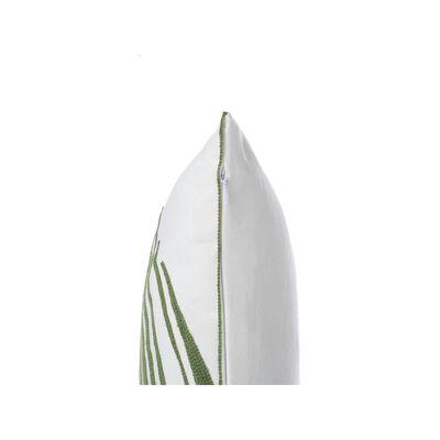 Lot de 2 coussins blancs motif feuille de palmier 45 x 45 cm AZAMI