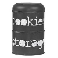 LABEL51 Boîte à biscuits 17x17x27 cm Noir antique