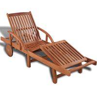 vidaXL Chaise longue Bois d'acacia solide