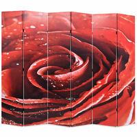 vidaXL Cloison de séparation pliable 228 x 170 cm Rouge rose
