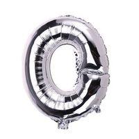 Ballon 53 cm, lettre O - argent
