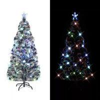 vidaXL Arbre de Noël artificiel et support/LED 180 cm Fibre optique