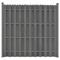vidaXL Panneau de clôture avec 2 poteaux WPC 180x180 cm Gris