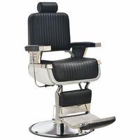 vidaXL Chaise de barbier Noir 68x69x116 cm Similicuir