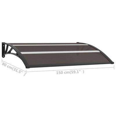 vidaXL Auvent de porte Noir 150x80 cm PC