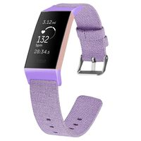 Bracelet Fitbit Charge 3 toile violet - S