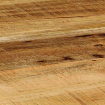 vidaXL Table basse Ovale Bois massif de manguier brut et acier 100 cm
