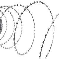 vidaXL Fil de fer barbelé NATO Rouleau hélicoïdal Acier galvanisé 100m