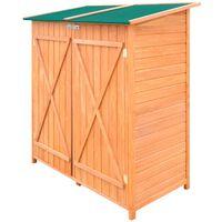 vidaXL Abri de jardin de stockage d'outils de jardin Bois Grand