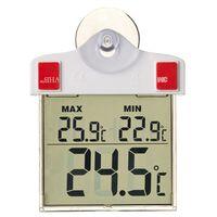 Nature Thermomètre numérique de fenêtre 13 x 10 x 3 cm