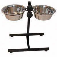 @Pet Support de mangeoire double pour animaux de compagnie 8 L Noir