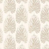 Evergreen Papier peint Monstera Leaves Blanc et beige