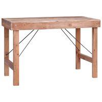 vidaXL Table de salle à manger 120x60x80cm Bois de récupération solide