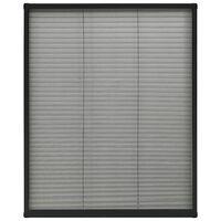 vidaXL Moustiquaire plissée pour fenêtre Aluminium Anthracite 80x100cm