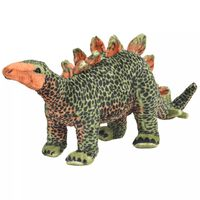 vidaXL Jouet en peluche Dinosaure Stegosaurus Vert et orange XXL