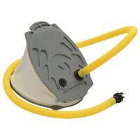 vidaXL Pompe à pied 21x29,5 cm PP et PE Gris et jaune