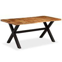 vidaXL Table de salle à manger Bois d'acacia et manguier 180x90x76 cm
