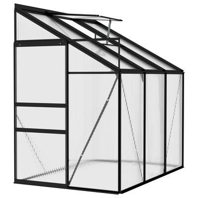 vidaXL Serre Anthracite Aluminium 3,8 m³
