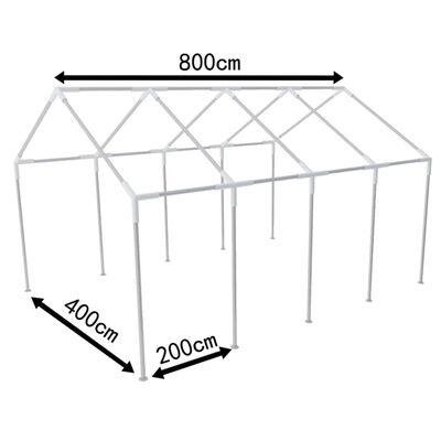 Structure de tente chapiteau pavillon jardin 8 x 4 m