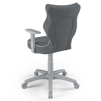 Entelo Chaise de bureau ergonomique enfants Duo JS33 Taille 6 Gris
