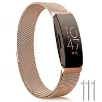 Fitbit Inspire / Inspire HR Armband Milanaise rosegold - L