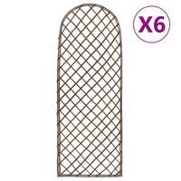 vidaXL Treillis de jardin 6 pcs 30x120 cm Saule