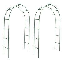 vidaXL Arche de jardin 2 pcs pour plantes grimpantes