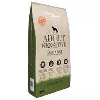 vidaXL Nourriture sèche pour chiens Adult Sensitive Lamb & Rice 15 kg
