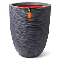 Capi Pot à fleurs Nature Rib bas élégant 36x47 cm Gris foncé