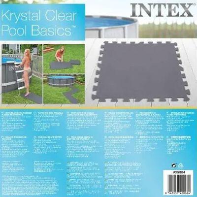 Intex Protecteur de sol rembourré verrouillable 8pcs 50x50x0,5cm 1,9m²