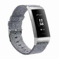 Bracelet Fitbit Charge 3 toile gris - L