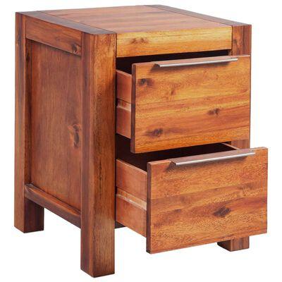vidaXL Cadre de lit et 2 tables de chevet Bois d'acacia 140 x 200 cm