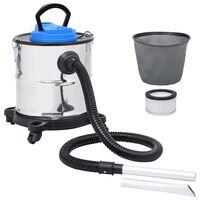 vidaXL Aspirateur à cendres et filtre HEPA 1200W 20 L Acier inoxydable
