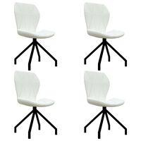 vidaXL Chaises de salle à manger 4 pcs Blanc Similicuir