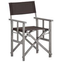 vidaXL Chaise de metteur en scène Bois massif d'acacia