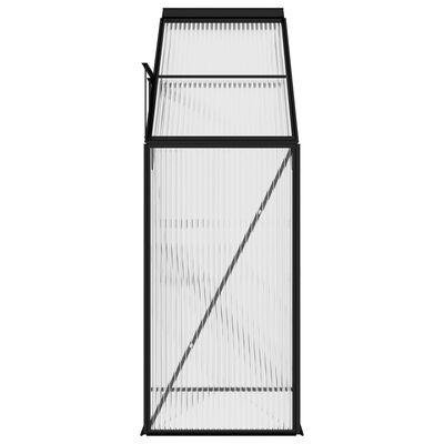 vidaXL Serre Anthracite Aluminium 1,38 m³