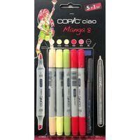 Set 5 marqueurs Copic Ciao Manga 8 + 1 Multiliner gratuit - Copic