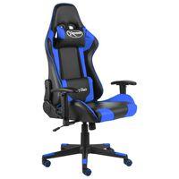 vidaXL Chaise de jeu pivotante Bleu PVC
