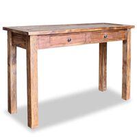 vidaXL Table console Bois de récupération massif 123 x 42 x 75 cm