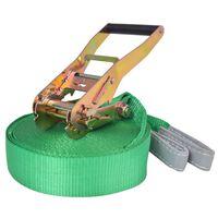 vidaXL Corde lâche pour slackline 15 m x 50 mm 150 kg Vert