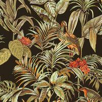 DUTCH WALLCOVERINGS Papier peint Bird-of-Paradise Noir