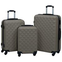 vidaXL Ensemble de valises rigides 3 pcs Anthracite ABS