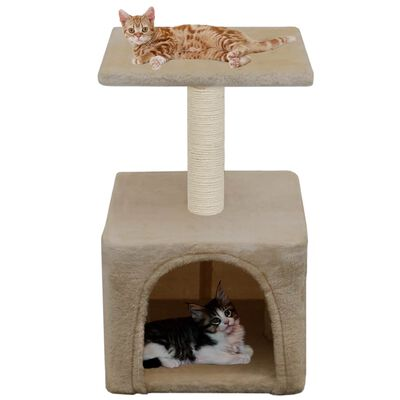 vidaXL Arbre à chat avec griffoirs en sisal 55 cm Beige