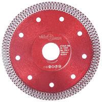 vidaXL Disque de coupe diamanté avec trous Acier 125 mm