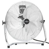 vidaXL Ventilateur de sol 3 vitesses 60 cm 120 W Chrome