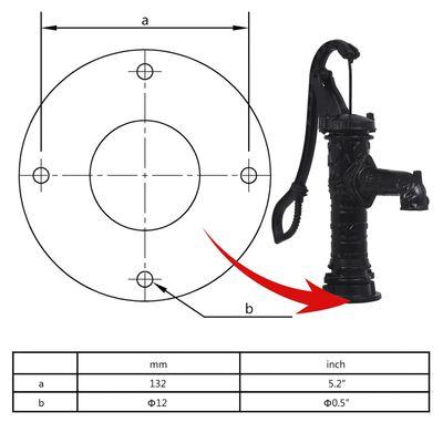 vidaXL Pompe à eau de jardin avec support en fonte