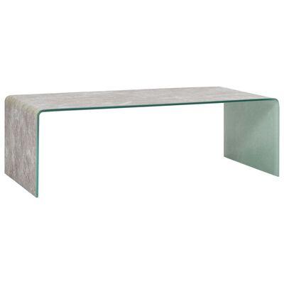 vidaXL Table basse Marron Marbre 98 x 45 x 31 cm Verre trempé