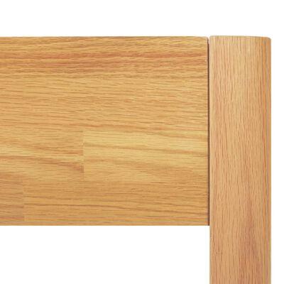 vidaXL Cadre de lit Bois de chêne massif 180 x 200 cm