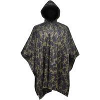 vidaXL Poncho de pluie imperméable pour camping/randonnée Camouflage