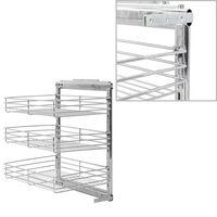 vidaXL Panier à 3 niveaux métallique de cuisine 47x35x56 cm